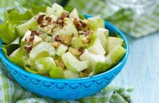 Салат с зеленым яблоком — 8 пошаговых рецептов
