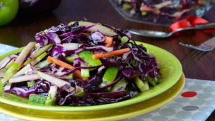 Салаты из фиолетовой капусты — 7 рецептов с пользой