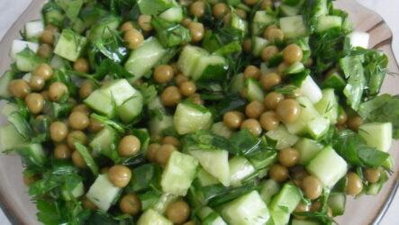 Салат с консервированным горошком — 8 простых и быстрых рецептов