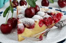 Пирог с черешней — 8 сладких фото-рецептов