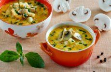 Сырный суп с шампиньонами — 8 сытных рецептов