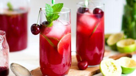Вишневый лимонад — 6 рецептов домашнего напитка