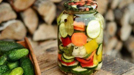 Овощное ассорти Огород — 7 рецептов в банках на зиму