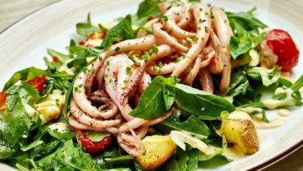 Салат с кальмарами ПП — 7 рецептов с фото